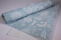 Подарочная Бумага рифленая в рулоне - Цветы Романтик голубая 50см*10м 131193-50/10,,013000