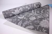 Подарочная Бумага рифленая в рулоне - Цветы Романтик серый 50см*10м 131193-50/10,,024500