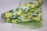 Подарочная Бумага рифленая в рулоне - Желтый цвет на салатовом 50см*10м 131210-50/10,,600734
