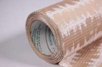 подарочная бумага рифленая в рулоне - кора бежевая 50см*10м 131234-50/10,,010540