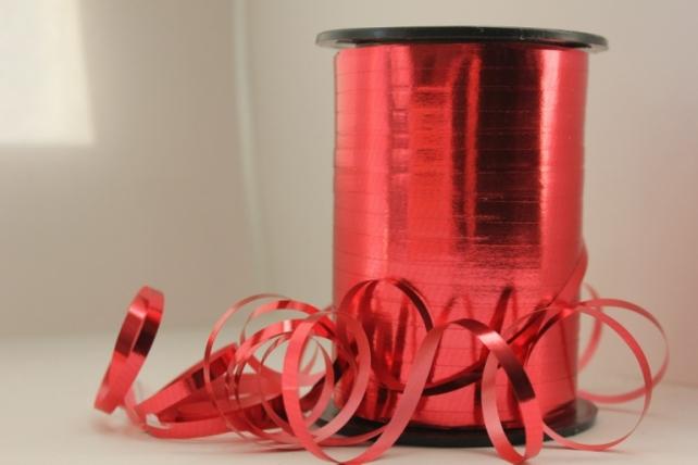 Подарочная Декоративная Лента металлизированная - 0.5х250y Красная