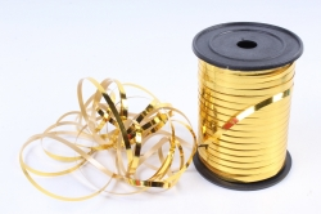Подарочная Декоративная Лента металлизированная - 0.5х250y Золотая М0500