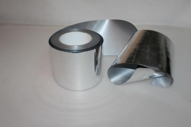 Подарочная Декоративная Лента металлизированная (10см х 50ярд) - M1044 СЕРЕБРО