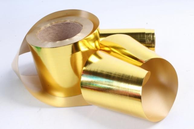 Подарочная Декоративная Лента металлизированная (10см х 50ярд) - M1050 ЗОЛОТО