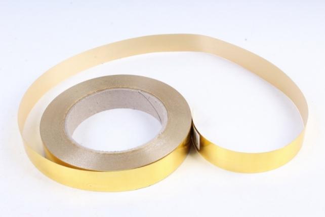 Подарочная Декоративная Лента металлизированная - 2х50у Золотая М208