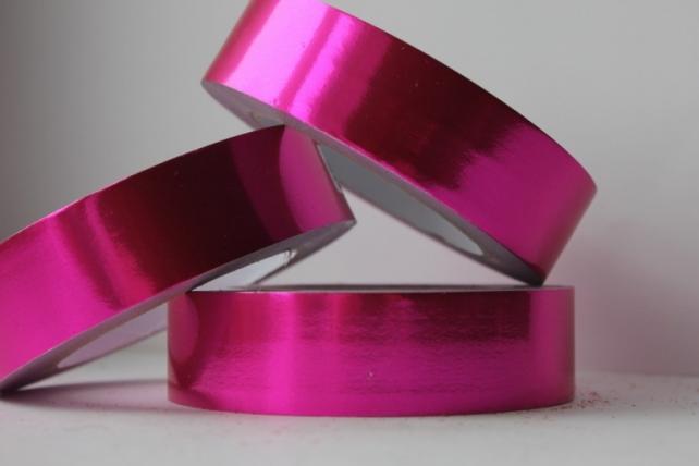 Подарочная Декоративная Лента металлизированная - 3х50у Малиновая