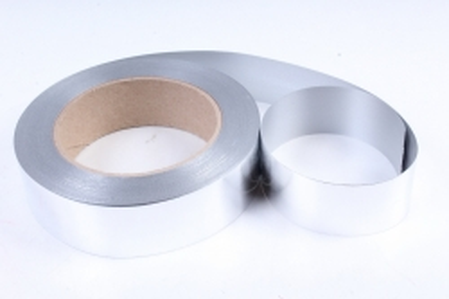 Подарочная Декоративная Лента металлизированная - 3х50у Серебристая М346