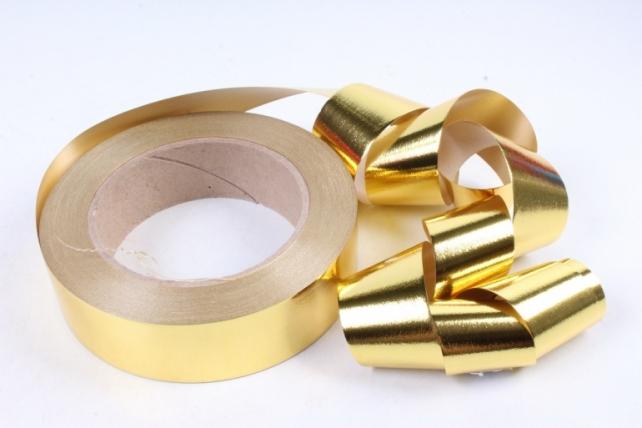 Подарочная Декоративная Лента металлизированная - 3х50у Золотая М347