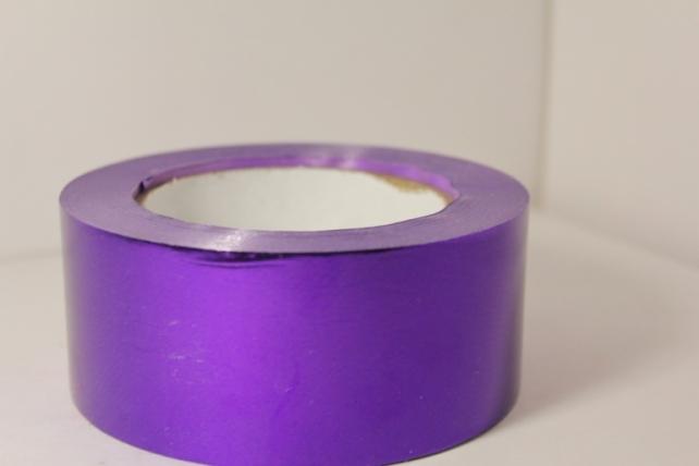 Подарочная Декоративная Лента металлизированная - 5х50у - Фиолетовая М546