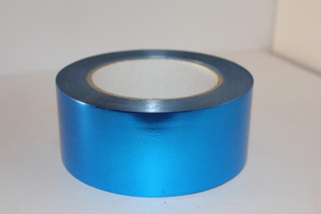Подарочная Декоративная Лента металлизированная - 5х50у - Синяя М547