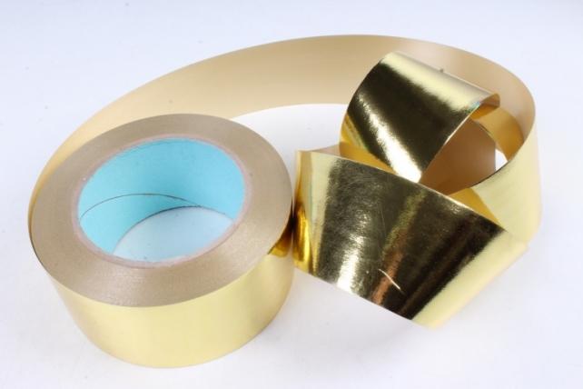 Подарочная Декоративная Лента металлизированная - 5х50у - Золотая М550
