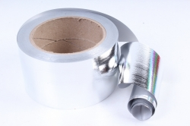Подарочная Декоративная Лента металлизированная (6см х 50ярд) - M644 СЕРЕБРО