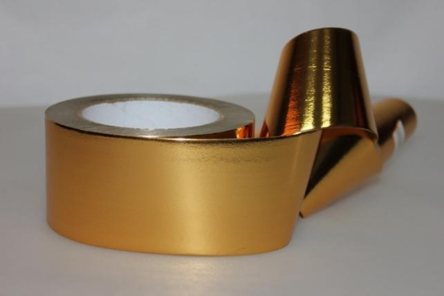 Подарочная Декоративная Лента металлизированная (6см х 50ярд) - M650 ЗОЛОТО