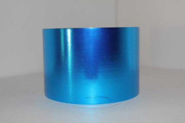 Подарочная Декоративная Лента металлизированная - 8х50у - Синяя М847