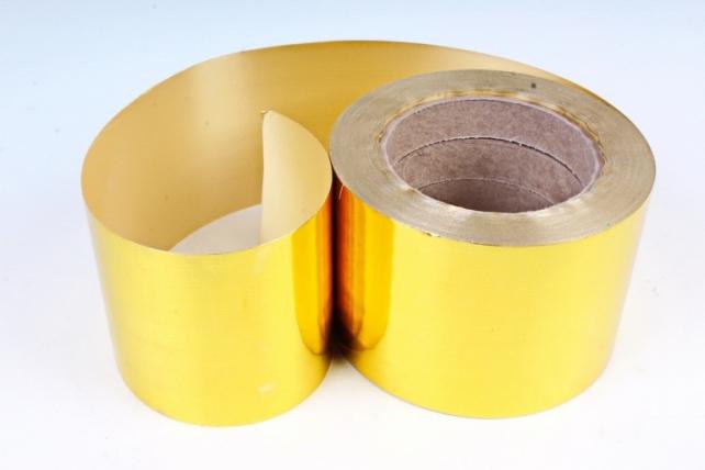 Подарочная Декоративная Лента металлизированная - 8х50у - Золотая М899