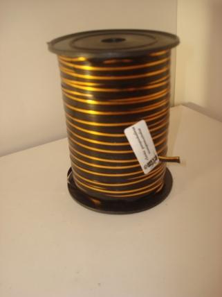 0,5 см х 250у подарочная декоративная лента с золотой полосой - 0.5х250у чёрная а0535 A0535