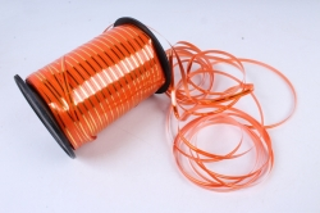Подарочная Декоративная Лента с золотой полосой - 0.5х250у Оранжевая А0530