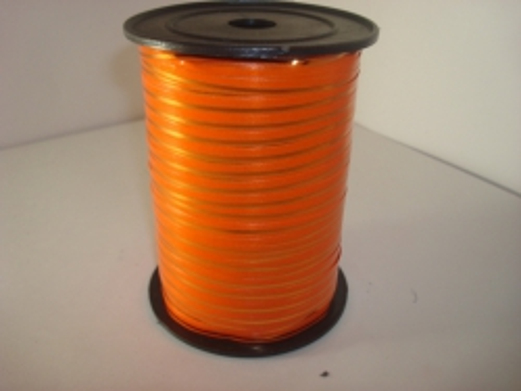 0,5 см х 250у подарочная декоративная лента с золотой полосой - 0.5х250у оранжевая а0530 A0530