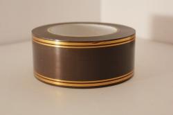Подарочная Декоративная Лента с золотой полосой - 5х50у Шоколадная A520
