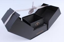 Подарочная коробка - КУБ-трансформер чёрный