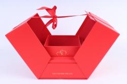 Подарочная коробка - КУБ-трансформер красный