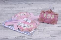 Подарочная коробка - Бонбоньерка  Карета розовая ( 12 шт в уп)  807
