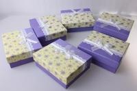 Подарочная Коробка (цена за 1 шт.)  12х14,5х5см  цвета в ассортименте