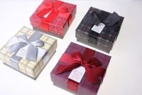 Подарочная Коробка (цена за 1 шт.) Ассорти Квадрат Клетка 11,5х11,5х5,5см 1036-31