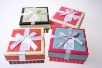 Подарочная Коробка (цена за 1 шт.) Ассорти Квадрат Точка 11,5х11,5х5,5см 1036-42