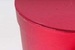Подарочная коробка для цветов 1шт - Цилиндр трансформер красный  К838