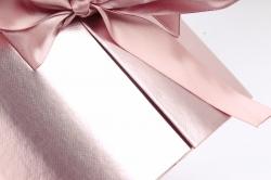 Подарочная коробка для цветов 1шт - Цилиндр трансформер лиловый   К838
