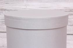 Подарочная коробка одиночная - Цилиндр с ящиками шелк серый d=16,h=20см  В213