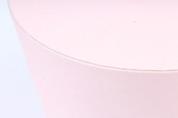 Подарочная коробка одиночная - Цилиндр золотой поясок розовый   Z15