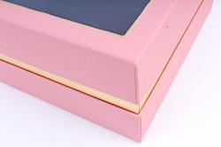 Подарочная коробка одиночная - Квадрат с окном пудра Z11