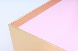Подарочная коробка одиночная - Квадрат с окном розовый  Z11