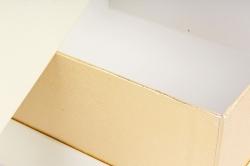 Подарочная коробка одиночная - Квадрат с окном шампань  Z11