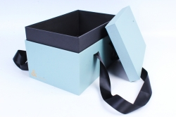 Подарочная коробка одиночная - Прямоугольник с двойным дном мятный  Z14