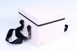 Подарочная коробка одиночная - Прямоугольник с двойным дном розовый Z14