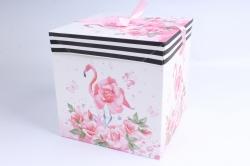 Подарочная коробка одиночная Куб - трансформер Фламинго  SF-5033L  М