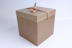 Подарочная коробка одиночная Куб - трансформер золото   SF-5019L  М