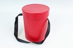 Подарочная коробка одиночная 1шт - Цилиндр красный В53
