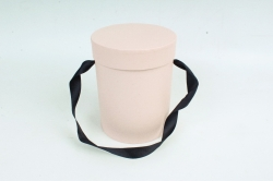 Подарочная коробка одиночная 1шт - Цилиндр розовый  В53