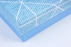 Подарочная коробка одиночная (1шт)- Прямоугольник голубой К506