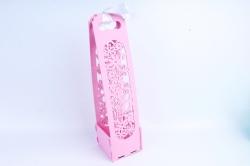 """Подарочная коробка под шампанское """"8 Марта!"""" розовый ПУ435-02-0505"""