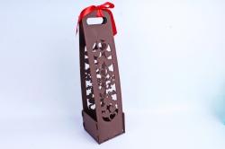 """Подарочная коробка под шампанское """"Выпьем за любовь!"""" коричнево-красный ПУ459-00-1706"""