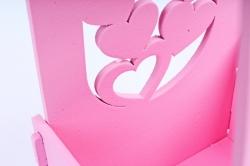 """Подарочная коробка под шампанское """"Выпьем за любовь!"""" розовый ПУ459-02-0503"""