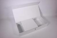 Подарочная коробка - Прямоугольник трансформер белый 50*23*9см