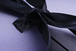 """Подарочная коробка (1шт) - Цилиндр -трансф. ткань """"BEST"""" графитовый"""