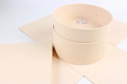 Подарочная коробка 1шт - Куб трансформер с сюрпризом шампань  К672