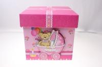"""Подарочная коробка трансформер  """"Детская """"  15,9*15,9*15,9см  (1шт) цвета в ассортименте"""